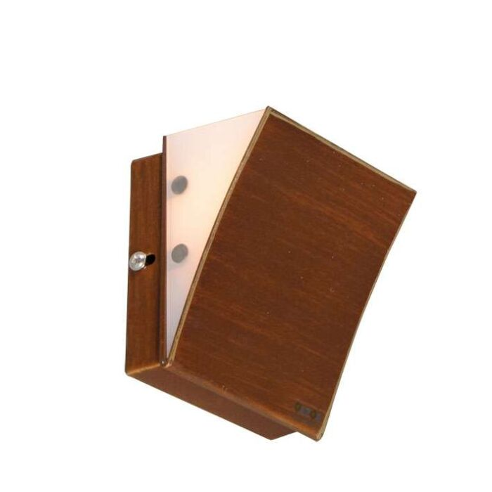 Applique-'Book-I'-classico-caffè/metallo---adatto-per-LED-/-interno