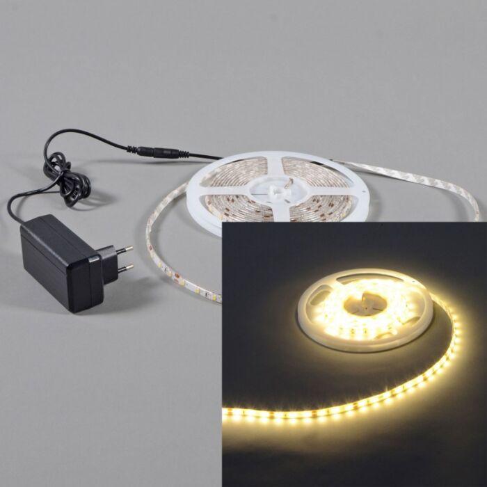 Illuminazione-flessibile-a-LED-'IP65-3m'-moderna-blanca/plastica---include-LED-/-esterna,-interna,-bagno