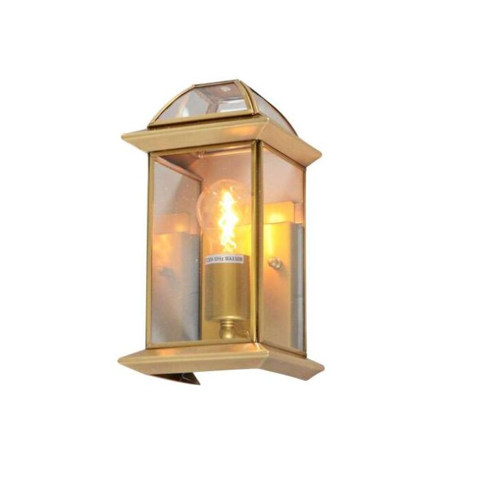 Applique-'Piperhill'-classico-bronzo/vetro---adatto-per-LED-/-interno