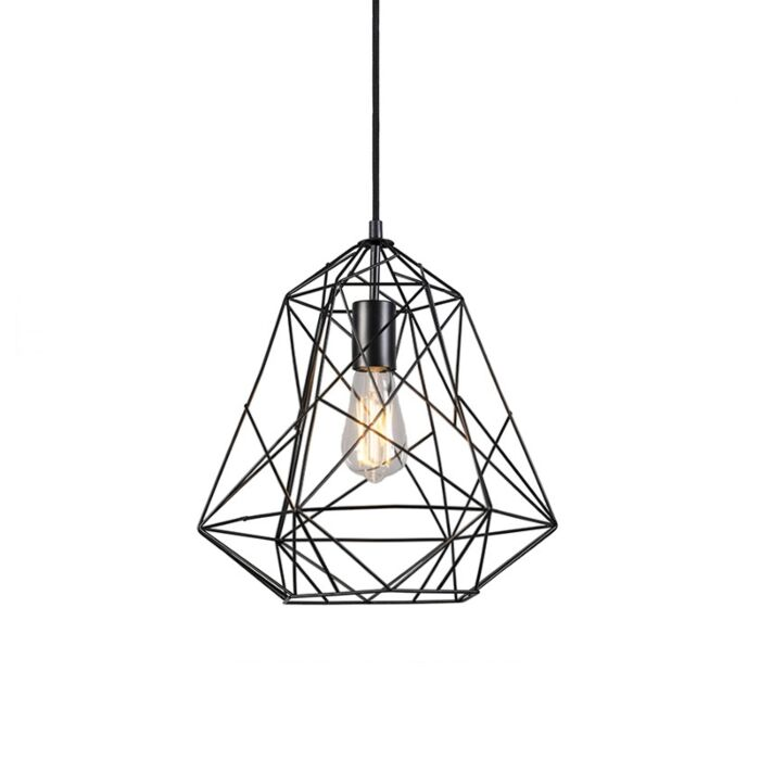 Lampada-a-sospensione-industriale-nera---FRAMEWORK-Basic