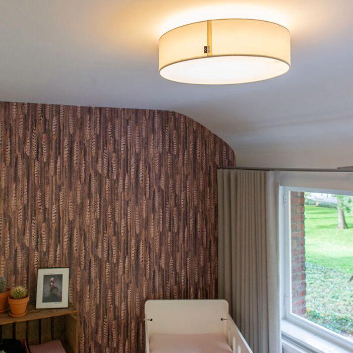 Lampada-da-soffitto-bianca-40-cm-incl.-LED---Drum-LED