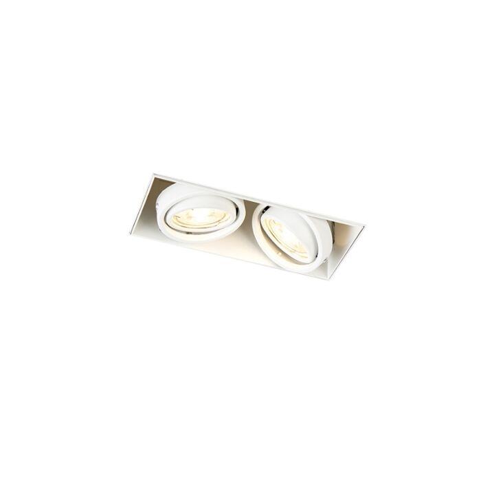 Faretto-da-incasso-orientabile-bianco-senza-rivestimento-2-luci---ONEON-2-Trimless
