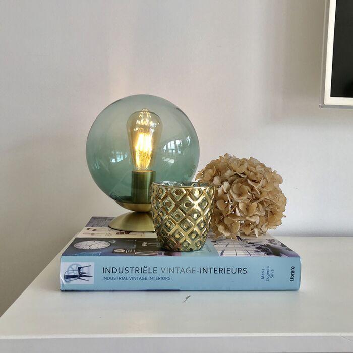Lampada-da-tavolo-Art-Déco-ottone-vetro-verde---PALLON