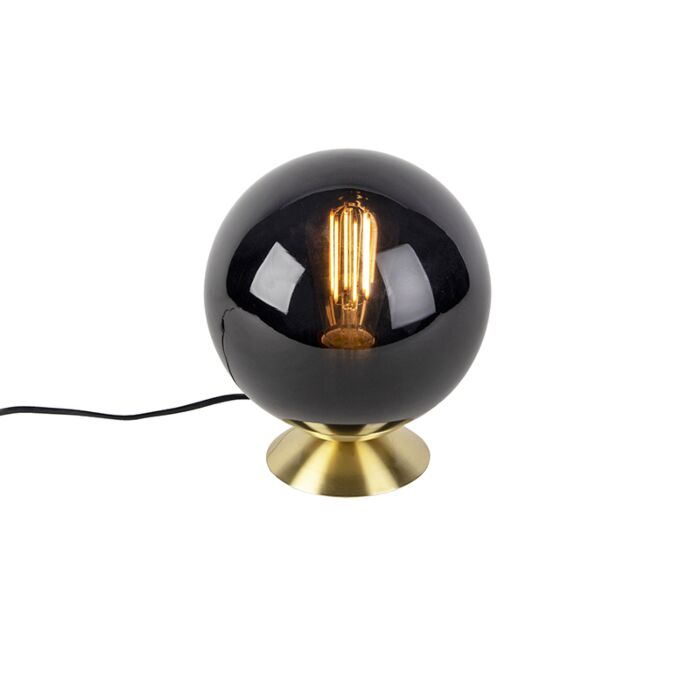 Lampada-da-tavolo-Art-Déco-ottone-vetro-nero---PALLON