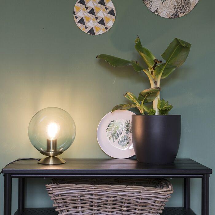 Lampada-da-tavolo-Art-Déco-ottone-vetro-blu---PALLON