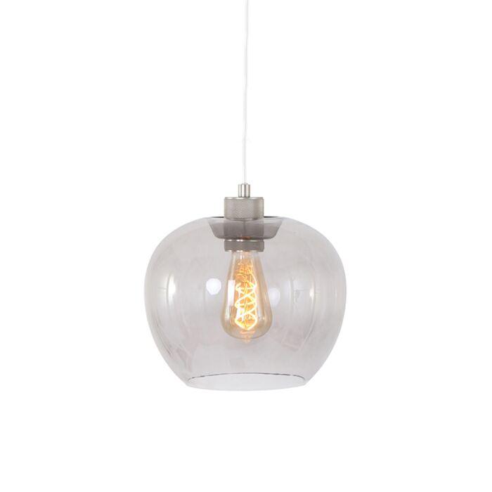 Lampada-a-sospensione-moderna-acciaio-con-vetro---LORI