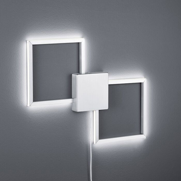 Applique-moderna-quadrata-acciaio-incl.-LED---CARPO