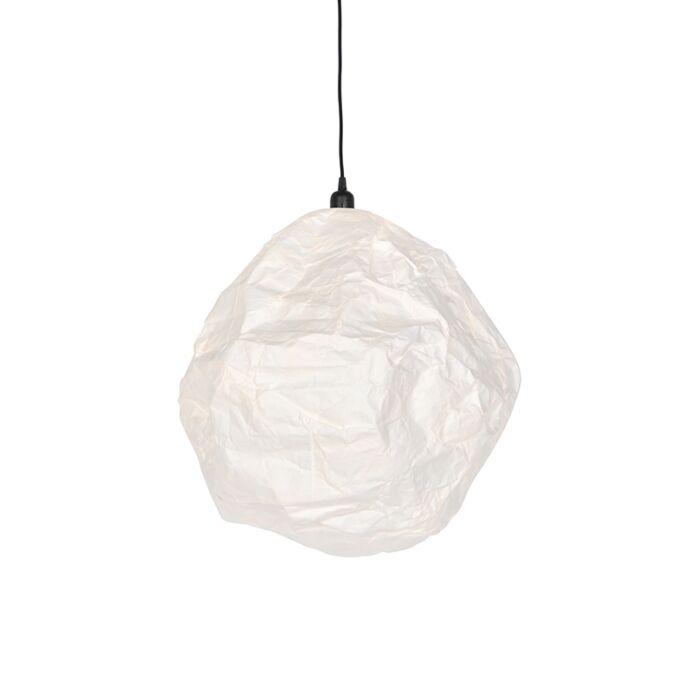 Lampada-a-sospensione-in-carta-scandinava-bianca---PEPA-HIVE