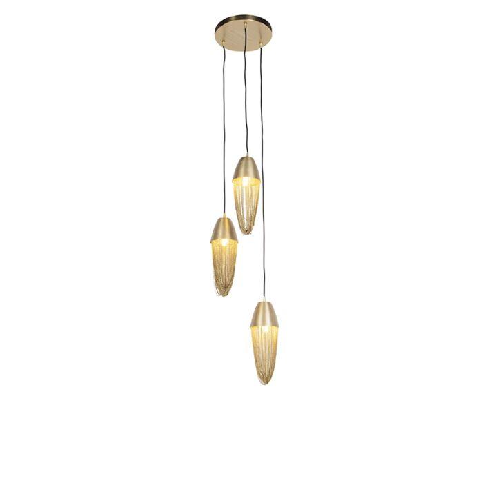 Lampada-a-sospensione-orientale-oro-3-luci---CATENA