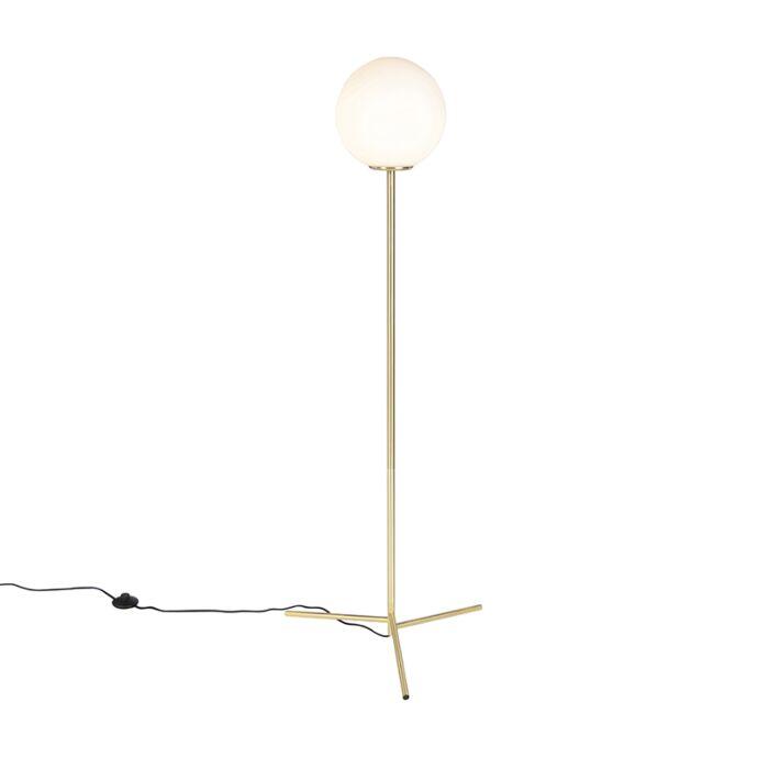 Lampada-da-terra-art-deco-in-vetro-traslucido-e-in-ottone---PALLON