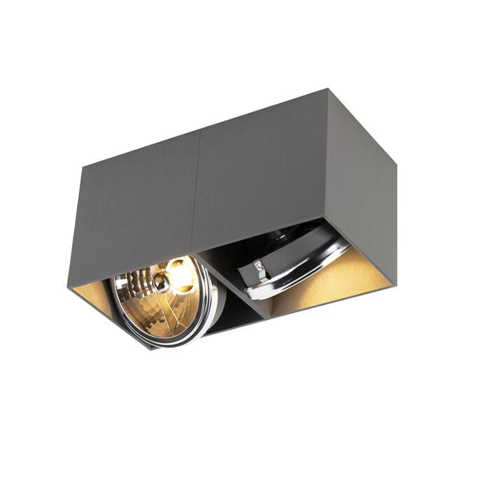 Faretto-rettangolare-grigio-chiaro-2-lampadina-2-G9---BOX-