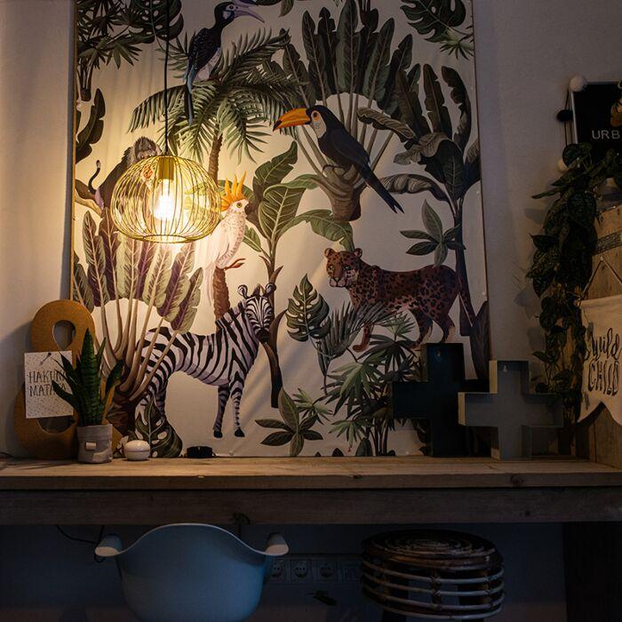 Lampada-a-sospensione-design-oro---WIRE-DOUGH