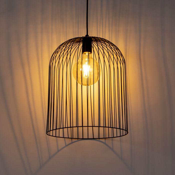 Lampada-a-sospensione-design-nera---WIRE-Knock