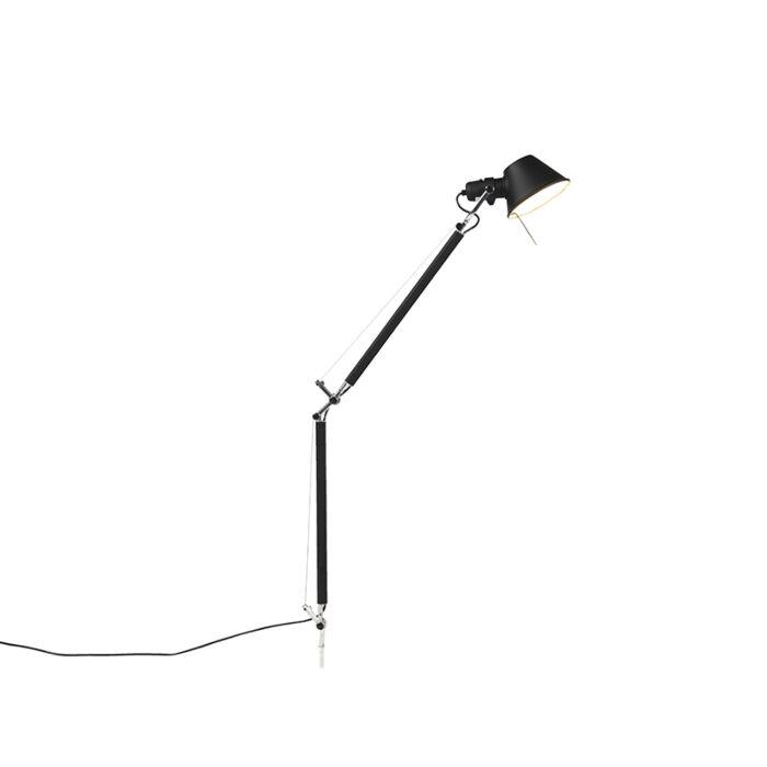 Lampada Da Tavolo Design Corpo Nero Artemide Tolomeo Tavolo Lampadaeluce