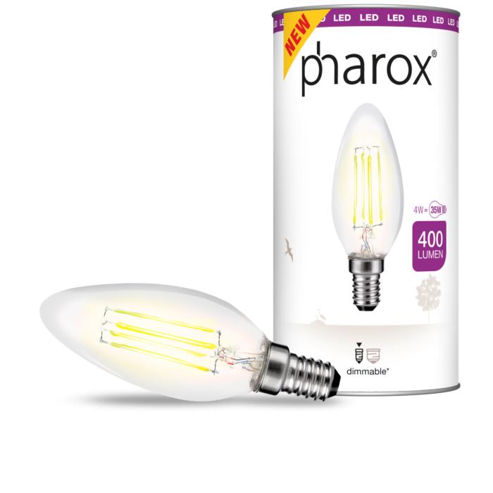 Lampadina-candela-E14-LED-4-Watt-400-Lumen-Bianco-caldo-Dimmerabile