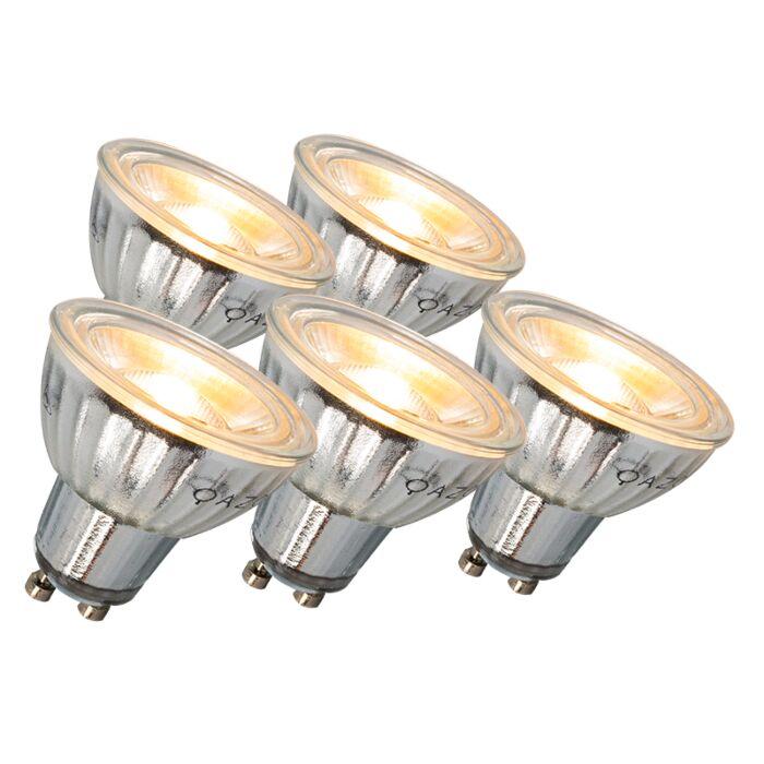 Set-di-5-lampadine-regolabili-LED-GU10-7W-500LM-3000K