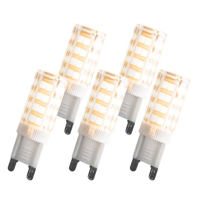 Set-di-5-lampadine-G9-LED-3,3W-200LM