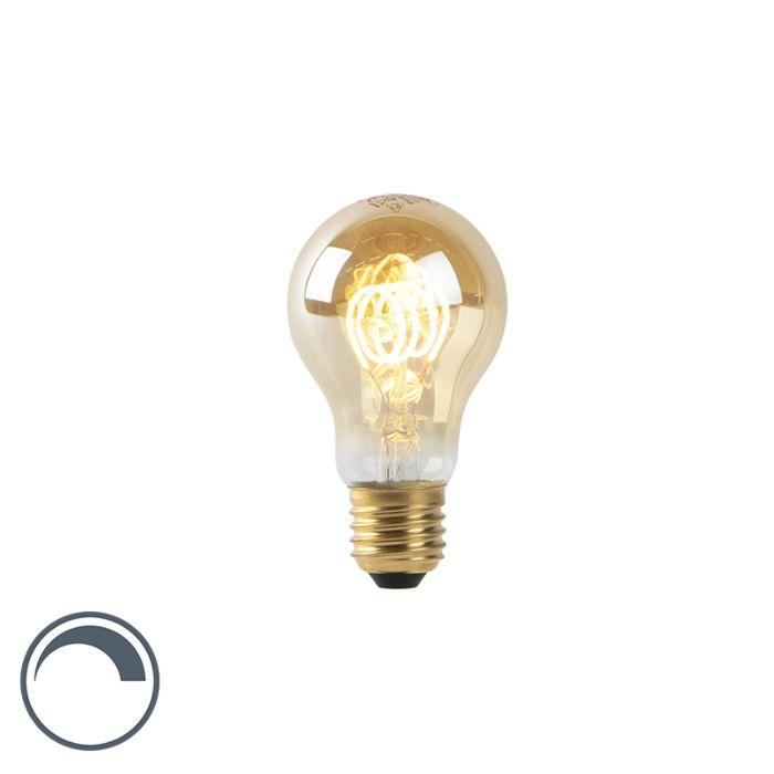 Lampada-a-LED-A60-E27-4W-2200K-filamento-a-spirale-in-oro-dimmerabile