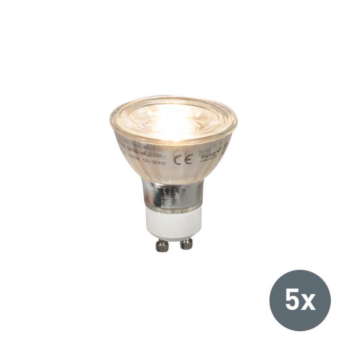 Set-di-5-lampade-a-LED-GU10-COB-5W-380lm-2700K
