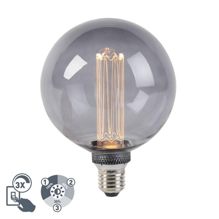 Lampada-a-LED-G125-E27-5W-2000K-fumo-dimmerabile-in-3-fasi