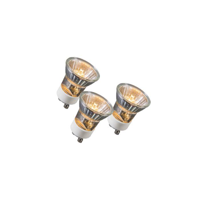 Set-di-3-lampadine-GU10-alogene-35W-400LM-bianco-caldo-dimmerabile