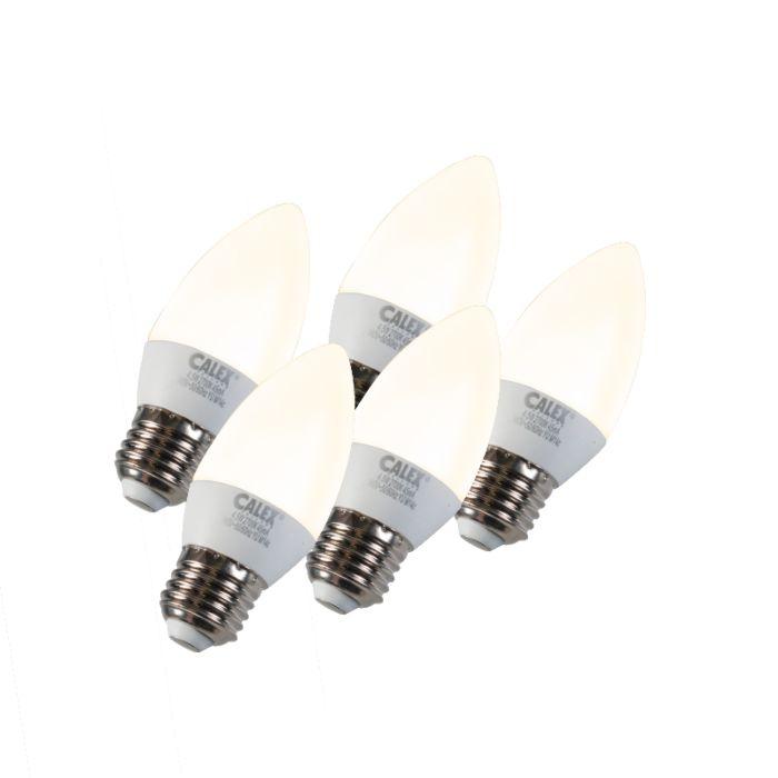 Set-di-5-lampadina-a-candela-a-LED-E27-5W-240V-2700K-dimmerabile