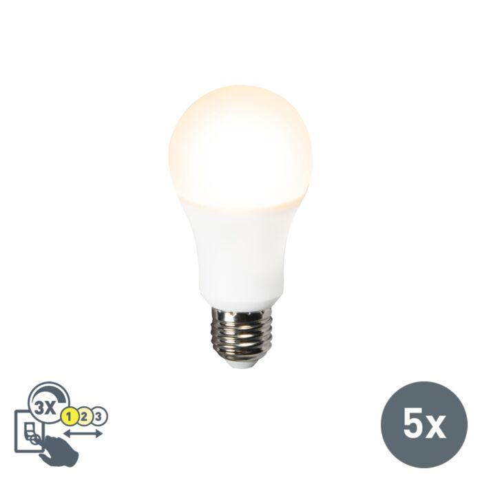Set-di-5-lampadine-a-LED-A60-12W-E27-3-in-1
