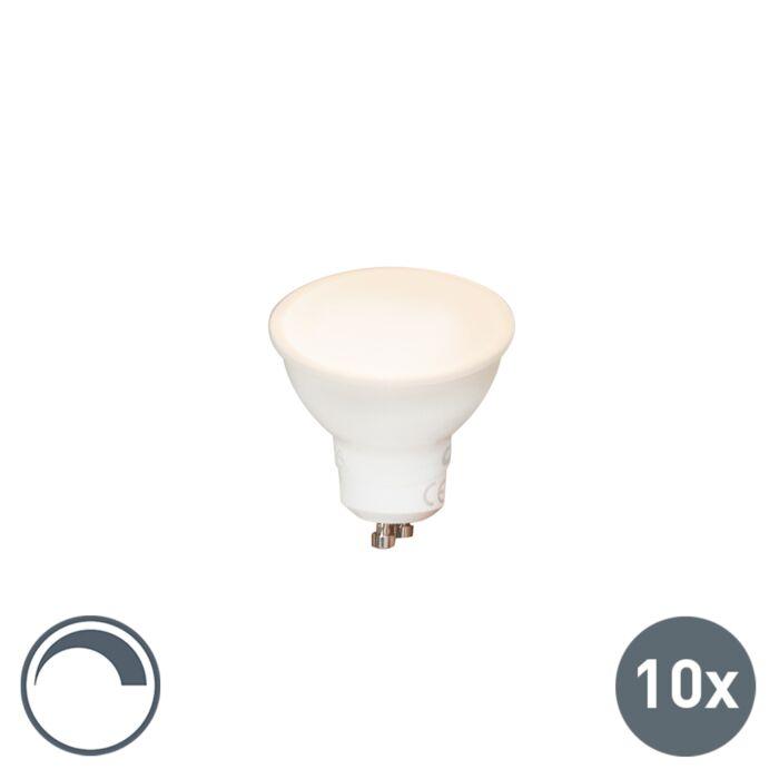 Set-10-lampadine-a-LED-GU10-6,5W-450LM-regolabile