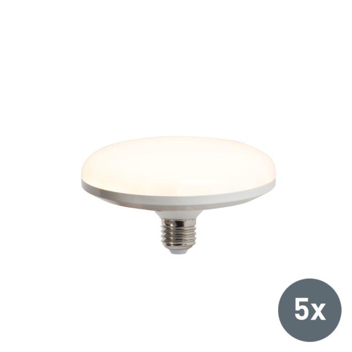 Set-di-5-lampadine-a-LED-UFO-E27-18W-bianco-caldo