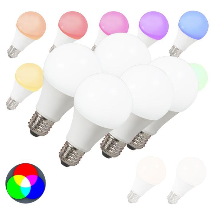 Set-di-5-lampadine-E27-a-LED-SMART-LIGHT-RGB-A60-7W-500LM
