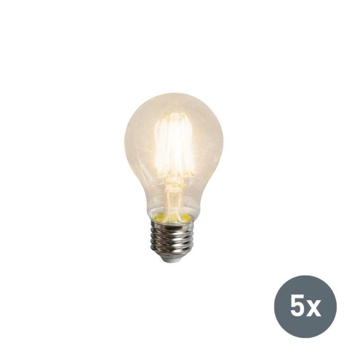 Set-di-5-lampadina-E27-a-LED-5W-600LM-bianco-caldo