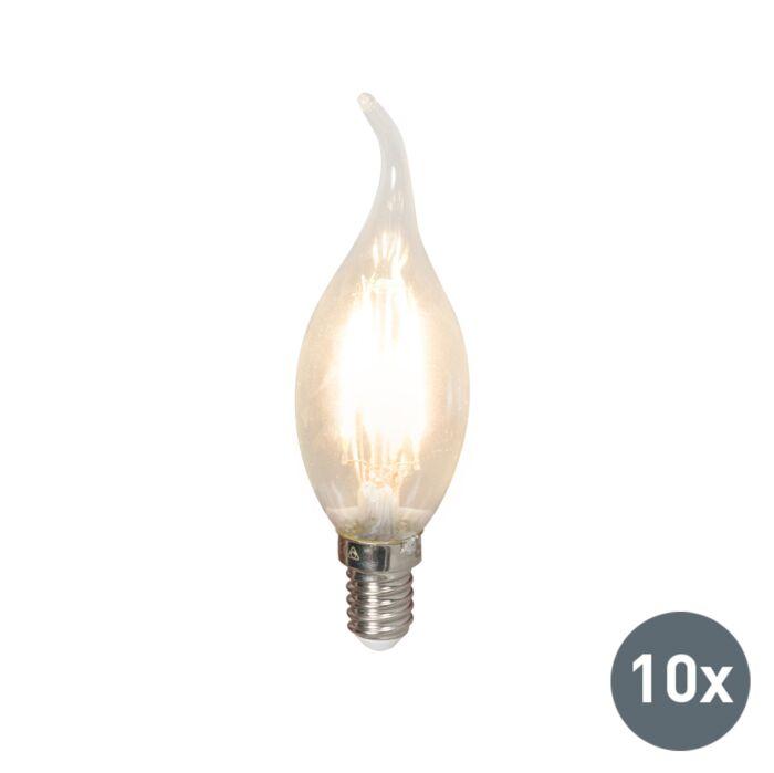 Confezione-da-10-lampadine-a-LED-E14-colpo-di-vento-a-filamento-BXS35-3,5W-350LM