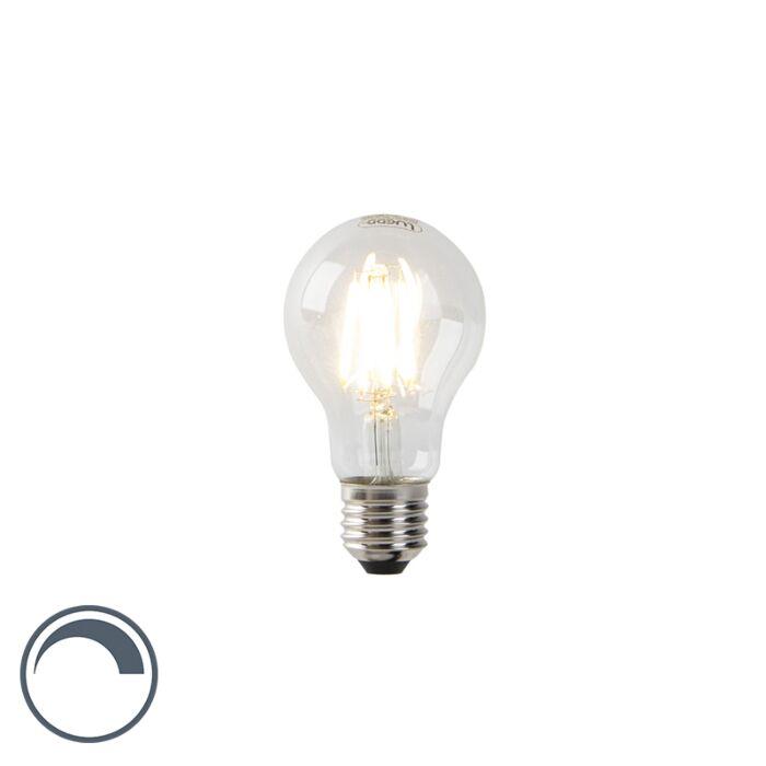 Lampada-a-LED-A60-E27-7W-2700K-dimmerabile-con-filamento-chiaro