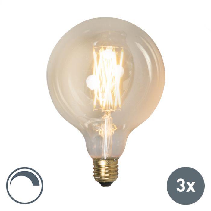 Set-di-3-lampade-a-LED-dimmerabili-E27-G125-goldline-320lm-2100-K