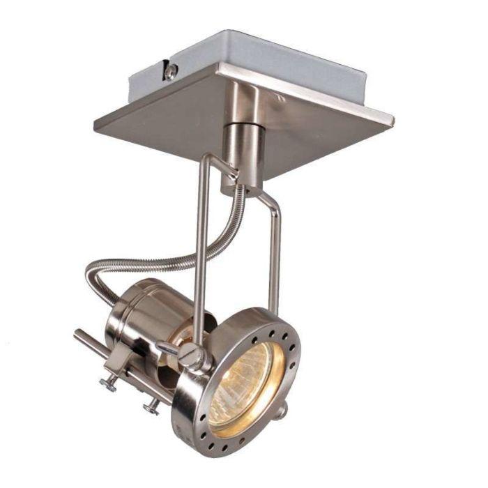 Faretto-'Suplux-1'-industriale-acciaio---adatto-per-LED-/-interno