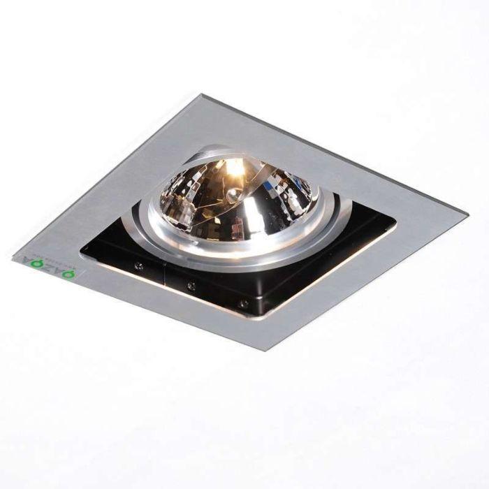 Faretto-da-incasso-'Qure-1'-design-alluminio---adatto-per-LED-/-interno