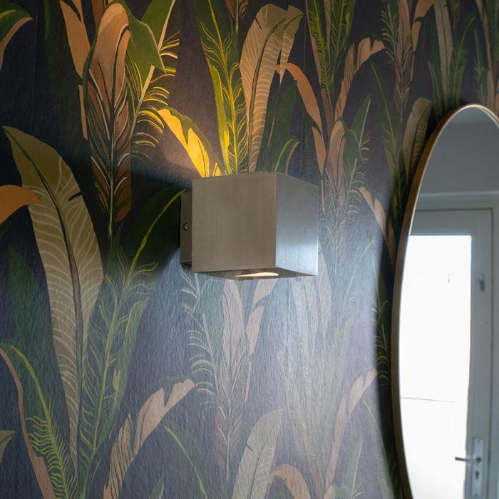 Lampada-da-parete-moderna-in-alluminio-quadrato---Effetto