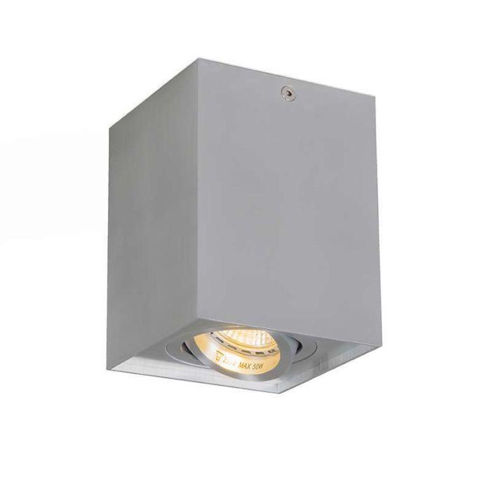 Faretto-'Quadro-1'-design-alluminio---adatto-per-LED-/-interno