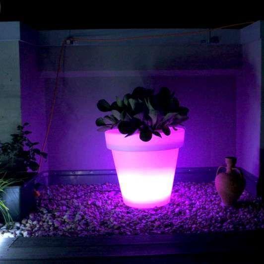 Fioriera-illuminata-'flowerpot'-moderna-blanca/plastica---include-LED-/-esterna,-interna