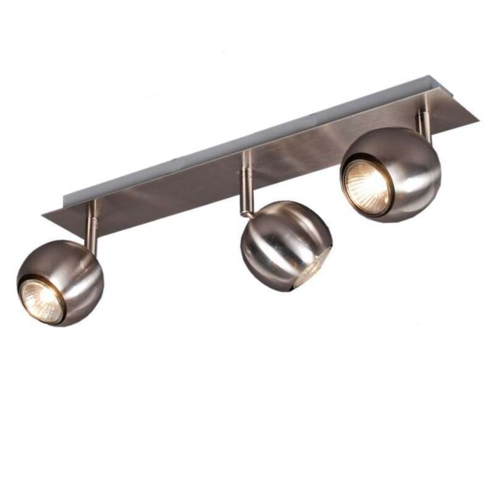Faretto-'Gissi-3'-moderno-acciaio---adatto-per-LED-/-interno