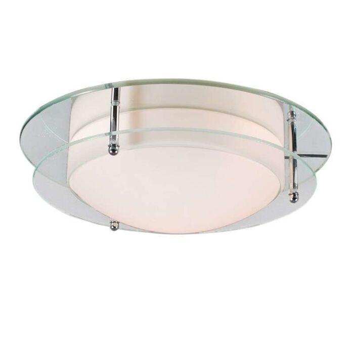 Plafoniera-'Ely-30'-moderna-trasparente/vetro---adatta-per-LED-/-interna,-bagno