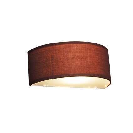 Lampada-da-parete-country-semicircolare-marrone---Tamburo