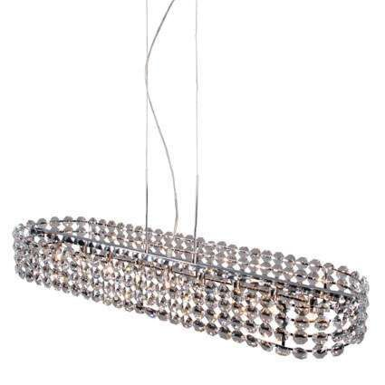 Lampada-a-sospensione-grande-'Monza-O'-classico-trasparente/cristallo---adatta-per-LED-/-interna