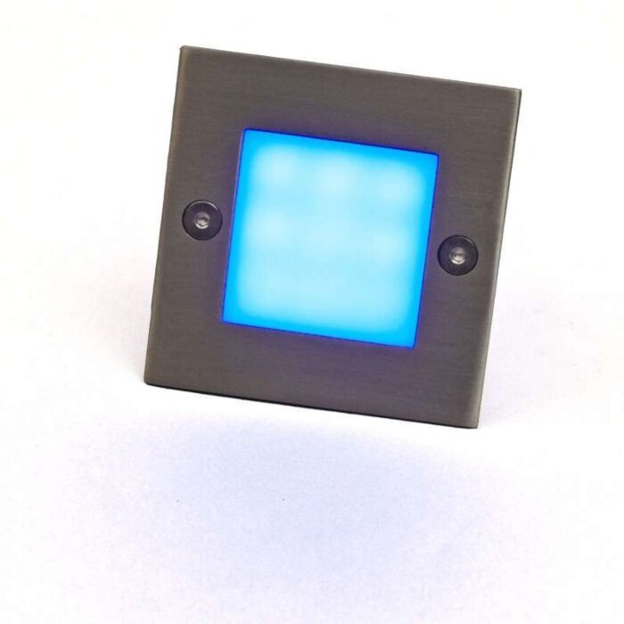 Faretto-da-incasso-'LEDlite-Square-7-B'-moderno-acciaio-inossidabile---include-LED-/-esterno,-interno,-bagno