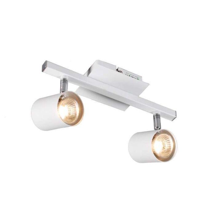 Faretto-'Attractive-2'-moderno-blanco/metallo---adatto-per-LED-/-interno