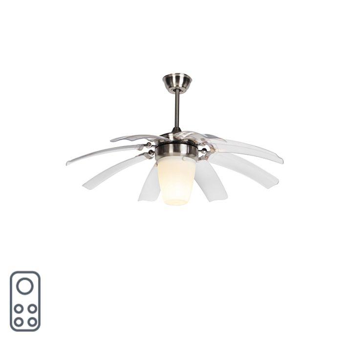 Ventilatore-da-soffitto-argento-con-telecomando---Ali-42-in-acciaio