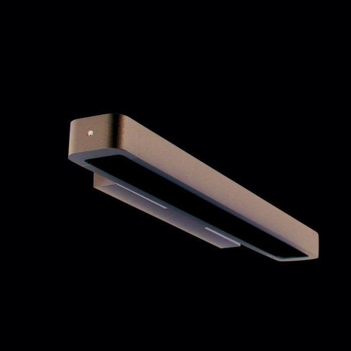 Applique-'Tube-U-14W'-moderno-grigio/alluminio-interno