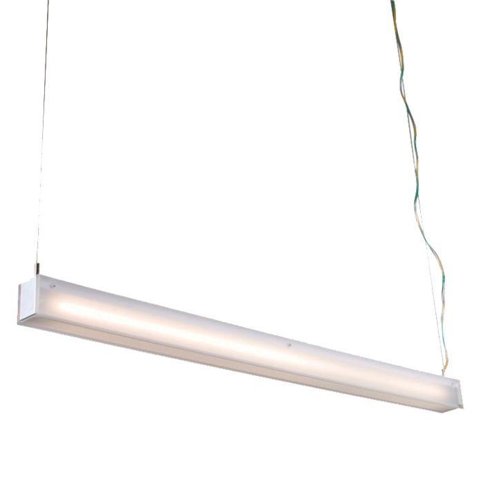 Lampada-a-sospensione-'tube-R-28W'-moderna-blanca/alluminio-interna