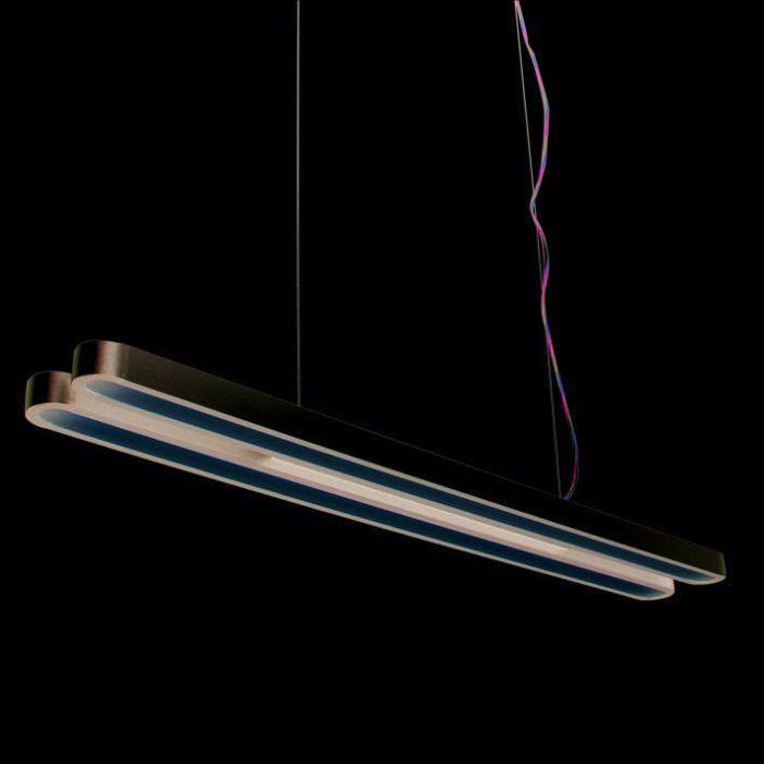 Lampada-a-sospensione-'Tube-U-Double-28W'-moderna-grigia/alluminio-interna
