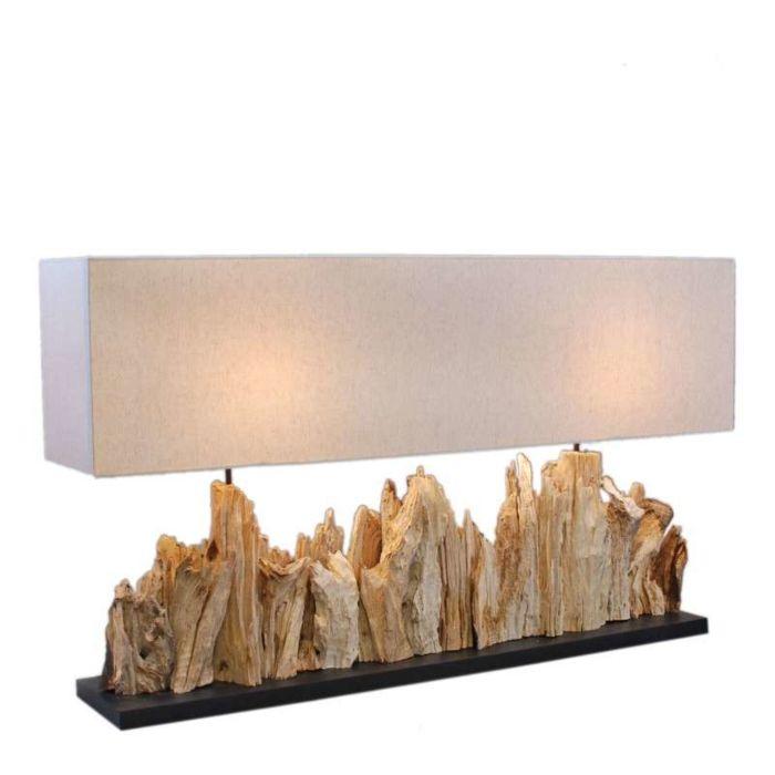 Lampada-da-tavolo-con-paralume-'Thak-Extra-Grande-(115cm)'-design-blanca/tessuto---adatta-per-LED-/-interna
